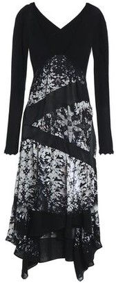 Roberto Cavalli Cutout Paneled Silk-voile And Crepe Dress