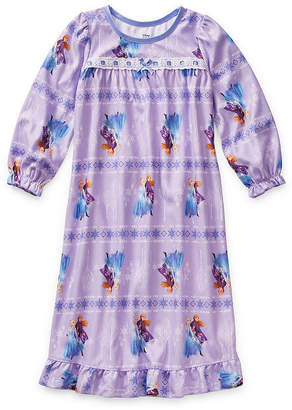 Disney Girls Long Sleeve Nightgown Frozen 2