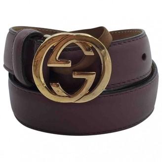 Gucci Purple Leather Belts