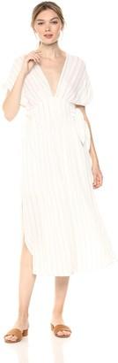 ASTR the Label Women's Sierra Casual Flowy MID Length Cap Sleeve Dress