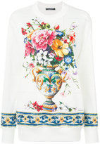 Dolce & Gabbana floral bouquet sweatshirt - women - Cotton - 38