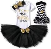 Creative Festive Costume Baby Girl 1st Birthday Dress - Infant Kids Party Tutu Shiny Outfits