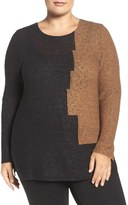 Nic+Zoe Terracotta Top (Plus Size)