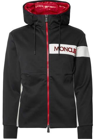 Moncler Logo-Appliquéd Tech-Jersey Hooded Jacket