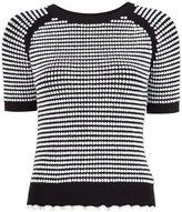 3.1 Phillip Lim shortsleeved knit top - women - Cotton/Nylon/Viscose - M