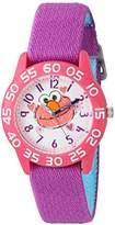 EWatchFactory Girl's 'Sesame Street' Quartz Plastic and Nylon Automatic Watch, Color:Purple (Model: W003206)