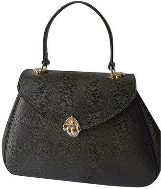 Jean Louis Scherrer Jean-louis Scherrer Green Leather Handbags