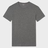 Paul Smith Men's Grey Marl Crew Neck Short-Sleeve Vest