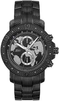 JBW Men's Veyron Diamond Accent & Crystal Stainless Steel Watch