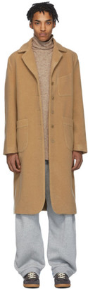 House of the Very Islands Beige Merino Stock Exchange Coat