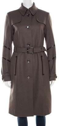 Boss By Hugo Boss Grey Wool Belted Cathlin Over Coat S