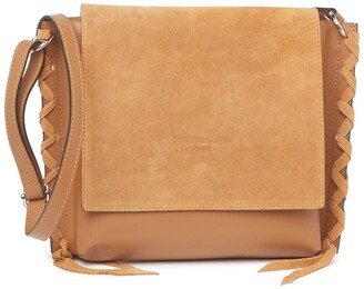 Christian Laurier Oscar Woven Leather & Suede Crossbody Bag
