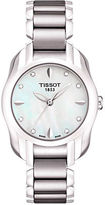 Tissot Ladies T Wave Round White Mother Of Pearl Diamonds and Quartz Trend Watch