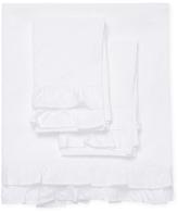 Melange Home Double Ruffle Cotton Percale Sheet Set