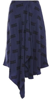 Acne Studios Draped Printed Washed Cupro Skirt