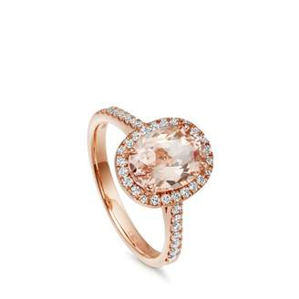 Astley Clarke Morganite Tearoom Ring Oval Cut Stone
