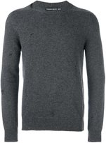 Alexander McQueen distressed jumper - men - Cashmere - S