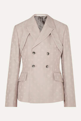BEIGE Gmbh GmbH - Therebium Double-breasted Wool-blend Jacquard Blazer