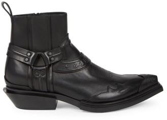 Balenciaga Santiag Matte Leather Boots