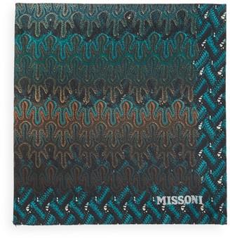 Missoni Wave-Pattern Silk Pocket Square