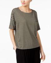 Eileen Fisher Organic Cotton-Blend Striped Boxy Top, Regular & Petite