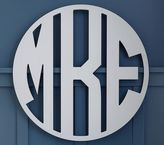 Pottery Barn Kids Boy Block Circle Monogram