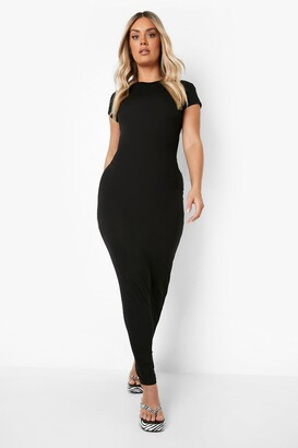 boohoo Plus Cap Sleeve Maxi Dress