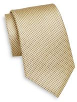 Saint Laurent Neat Triangle Patterned Silk Tie
