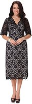 Yacun Women's Half Sleeve V-Neck Lace Sheath Cocktail Dress