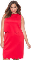 ELOQUII Plus Size Scalloped Overlay Dress