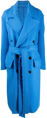 Ami Double-Breasted Belted Coat
