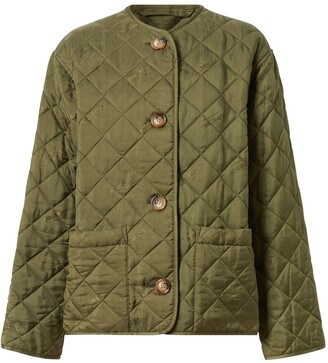 Burberry logo print quilted jacket