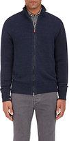 Inis Meain Men's Linen Zip-Front Sweater