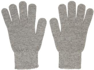 John Elliott Grey Wool and Cashmere Gloves