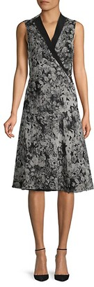 Lanvin Printed Silk Knee-Length Dress