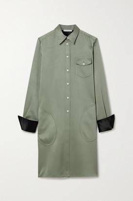 Peter Do Satin-twill Shirt Dress - Gray