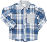 Masala Neat Shirt (Toddler/Kid) - Blue-10 Years