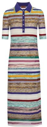 Missoni Striped silk midi dress