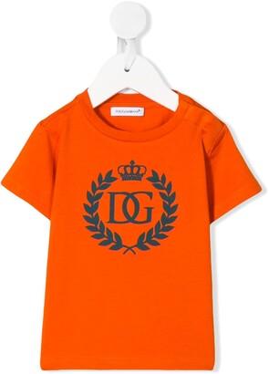 Dolce & Gabbana Kids DG crown logo-print T-shirt