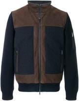 Paul & Shark panelled colour block bomber jacket