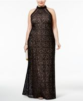 Night Way Nightway Plus Size Lace Gown