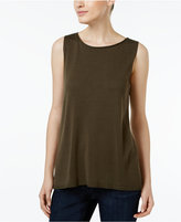 Eileen Fisher Tencel® Boat-Neck Tank Top, Regular & Petite