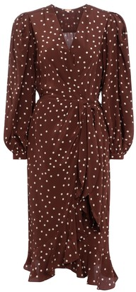 Johanna Ortiz Geography Of Life polka-dot crepe wrap dress