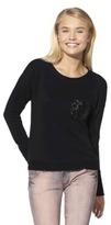 Xhilaration Junior's Sequin Pocket Sweatshirt - Assorted Colors