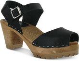 Mia Greta Two-Piece Block Heel Wooden Sandals