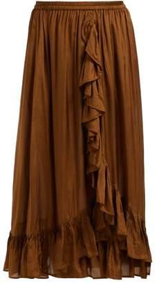 Mes Demoiselles Habibi Ruffled Skirt - Womens - Khaki