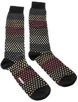 Missoni Gm00cmu5237 0004 Black/tan Knee Length Socks.