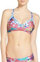 Luli Fama Women's Print Bikini Top