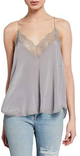 726bf998bb5833 Christy Strass Sleeveless Blouse With Lace Trim by Christy Strass  Sleeveless Blouse With Lace Trim