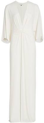 Halston Plunge Twist Gown